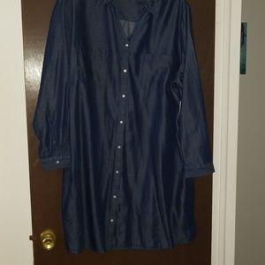 NWT Denim/Chambray Long Sleeve Dress